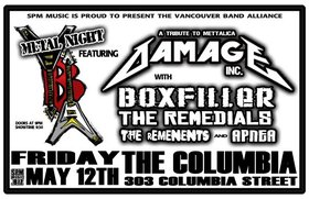 Damage Inc , War Amp , The Remedials, The Remnants, Apnea @ The Columbia May 12 2006 - Nov 26th @ The Columbia