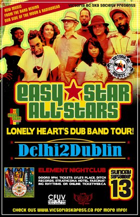 EASY STAR ALL STARS RETURN WITH LONELY HEARTS DUB BAND ALBUM RELEASE!: Easy Star All Stars, Delhi 2 Dublin @ Element Sep 13 2009 - Feb 28th @ Element