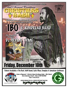 2nd Annual Caribbean Christmas Bash: IBO & Kindread Band, DJ PRYME TYME @ Steamers Pub Dec 10 2004 - Oct 20th @ Steamers Pub