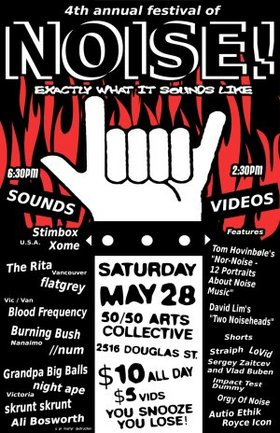 4th Annual Noise! Fest: Stimbox, Xome, The Rita, Burning Bush, Skrunt Skrunt, //num, Ali Bosworth, Night Ape - Sep 17th @ the fifty fifty arts collective