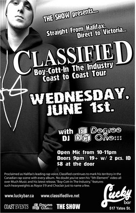THE SHOW presents:: Classified 80's, DJ Degree One @ Lucky Bar Jun 1 2005 - Feb 25th @ Lucky Bar