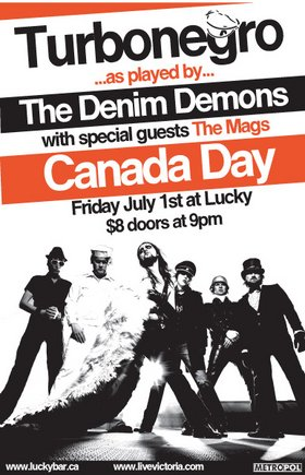 TURBO NEGRO!!!: The Denim Demons, the MAGS @ Lucky Bar Jul 1 2005 - Apr 8th @ Lucky Bar