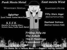 Splatter, S.I.C.K., Fifty Stars Anger, Emotional Distress @ The Astoria  Jul 29 2005 - Sep 27th @ The Astoria
