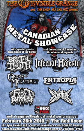 Brutal Truth, Infernal Majesty, Gross Misconduct, Entropia, Fetal Butchery, Nylithia @ The Red Room Feb 25 2010 - Apr 2nd @ The Red Room