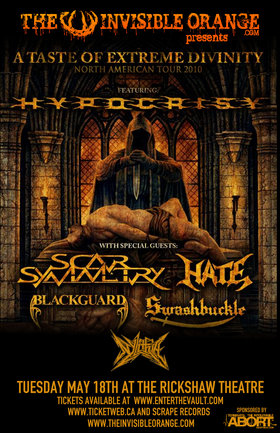 Hypocrisy, Scar Symmetry, Hate, Blackguard, Swashbuckle, Nylithia @ Rickshaw Theatre May 18 2010 - Jun 24th @ Rickshaw Theatre