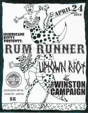 UPTOwN RiOT, Rum Runner, The Winston Campaign @ Pat's Pub Apr 24 2010 - Aug 18th @ Pat's Pub