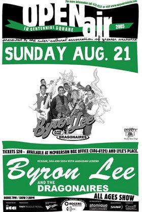BYRON LEE & THE DRAGONAIRES SUMMER REGGAE SOCA SKA PARTY!: BYRON LEE & THE DRAGONAIRES @ Centennial Square Aug 21 2005 - Oct 20th @ Centennial Square