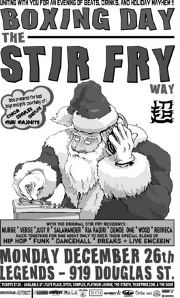 The Original Stir Fry Crew!, Murge, Salamander, Just B, Verse, Demoe One, Kia Kadiri, Rebecca, Wood @ Element Dec 26 2005 - Jun 2nd @ Element