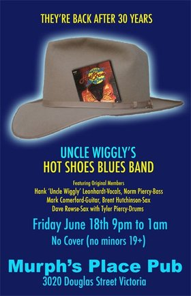 Uncle Wiggly's Hot Shoes Blues Band 2010 Hall of Fame Tour: Uncle Wigglys Hot Shoes Blues Band @ Tally Ho Sports Bar and Grill Jun 18 2010 - Jun 1st @ Tally Ho Sports Bar and Grill