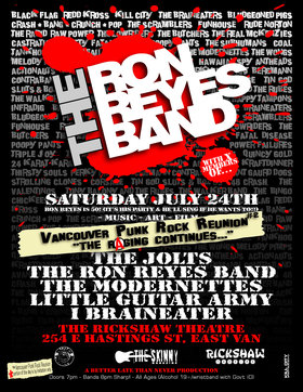 Ron Reyes is 50! (It's his party, and he'll sing if he wants to!): The Jolts, The Ron Reyes Band, Modernettes, Little Guitar Army, I, Braineater, Art, FILM, Vancouver Punk Rock Reunion #2 @ Rickshaw Theatre Jul 24 2010 - Jan 23rd @ Rickshaw Theatre