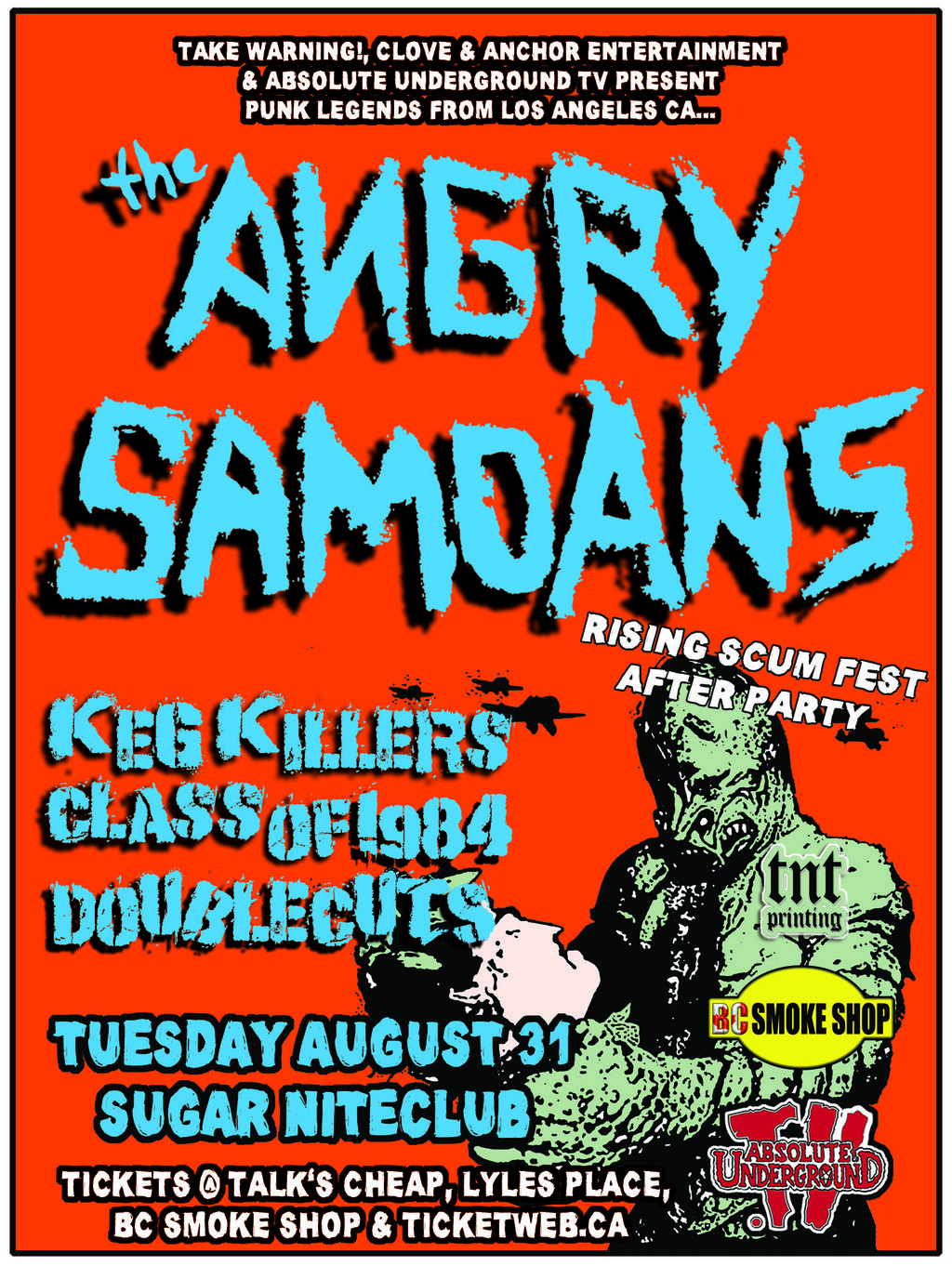 Punk Rock Legends play Victoria!: Angry Samoans, Class of 1984, The