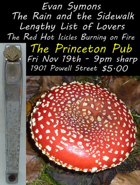 Evan Symons, The Rain And The Sidewalk, Lengthy List of Lovers, The Red Hot Icicles Burning on Fire @ Princeton Pub Nov 19 2010 - Apr 2nd @ Princeton Pub