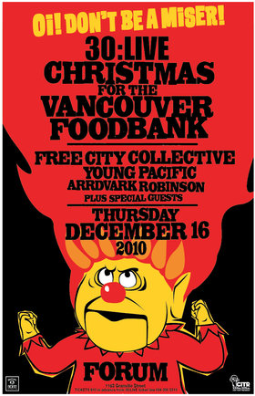 30:LIVE/JACK DANIELS CHRISTMAS PARTY: Free City Collective, Aardvark Robinson, Young Pacific @ The Forum Dec 16 2010 - Dec 2nd @ The Forum