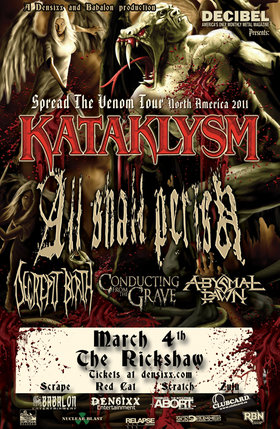 Kataklysm, All Shall Perish, Conducting from the Grave, Abysmal Dawn @ Rickshaw Theatre Mar 4 2011 - Nov 30th @ Rickshaw Theatre