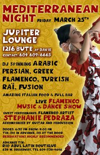 Stephanie Pedraza & live flamenco band @ The J Lounge Mar 25 2011 - Mar 31st @ The J Lounge
