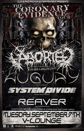 Augury, Aborted, System Divide, Reaver @ V-lounge Sep 7 2010 - Oct 27th @ V-lounge