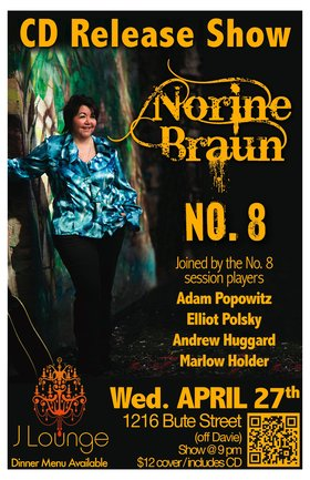 Norine Braun @ The J Lounge Apr 27 2011 - Mar 31st @ The J Lounge