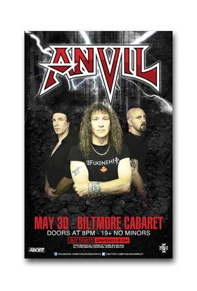 Anvil, With Guests @ The Biltmore Cabaret May 30 2011 - Sep 23rd @ The Biltmore Cabaret