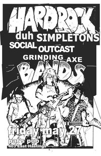 A night of noise & mayhem in the DTES!: Simpletons, Social Outcast , Grinding Axe @ Pat's Pub May 27 2011 - Sep 16th @ Pat's Pub