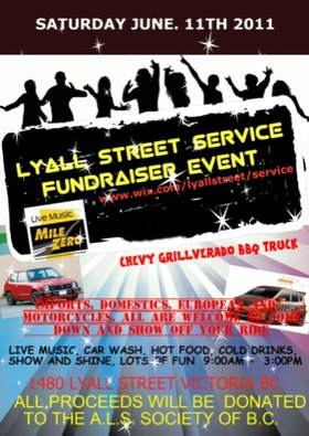A.L.S. Fundraiser music by: Mile Zero - Covers @ Lyall Street Service Jun 11 2011 - Oct 23rd @ Lyall Street Service