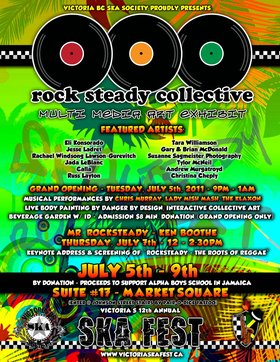 ROCKSTEADY COLLECTIVE MULTI MEDIA ARTS EXHIBIT GRAND OPENING: Chris Murray, The Klaxon, Lady Mishmash @ Studio #17 inside Market Square Jul 5 2011 - Oct 20th @ Studio #17 inside Market Square