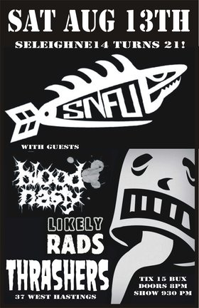 SNFU, Blood Nasty, The Likely Rads @ Funky Winker Beans Aug 13 2011 - Jun 16th @ Funky Winker Beans