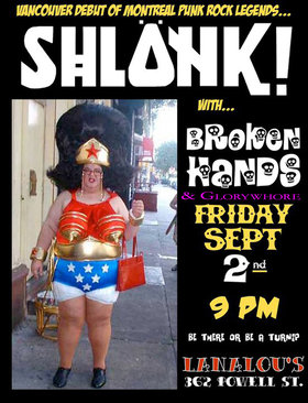 Shlonk, The Broken Hands, Glorywhore @ LanaLou's Sep 2 2011 - Aug 21st @ LanaLou's