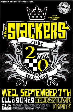 THE SLACKERS' 20TH ANNIVERSARY CONCERT: The Slackers, Georgetown Orbits @ Distrikt Sep 7 2011 - Sep 24th @ Distrikt