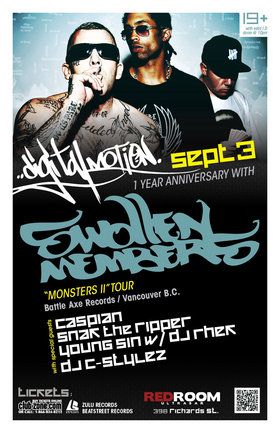 Swollen Members, with special guests @ The Red Room Sep 3 2011 - Aug 7th @ The Red Room