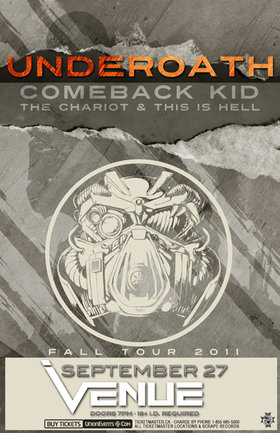 UnderOATH, Comeback Kid, The Chariot, This is Hell @ Venue Sep 27 2011 - Sep 23rd @ Venue