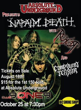 NAPALM DEATH - VICTORIA: Napalm Death, Reaver, Compound Terror @ Distrikt Oct 25 2011 - Oct 27th @ Distrikt