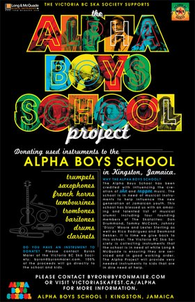 DONATE NEW AND USED INSTRUMENTS TO THE ALPHA BOYS SCHOOL IN JAMAICA: THE ALPHA BOYS SCHOOL PROJECT @ Long & McQuade - Victoria Apr 22 2012 - Jan 20th @ Long & McQuade - Victoria