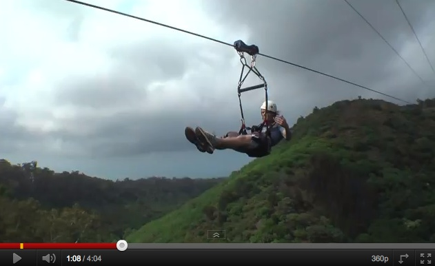 Zipplining In Hawaii