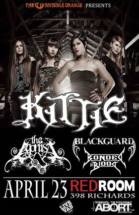 Kittie, The Agonist, Blackguard, Bonded by Blood @ The Red Room Apr 23 2012 - Jan 21st @ The Red Room