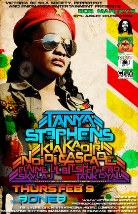 TANYA STEPHENS COMES TO THE ISLAND FOR THE 1ST TIME - BOB MARLEY'S 67TH JUBILEE CELEBRATION: TANYA STEPHENS, Kia Kadiri, Ndidi Cascade, Elaine Lil' Bit Shepherd, Skyla J, Tank Gyal @ Distrikt Feb 9 2012 - Jan 26th @ Distrikt