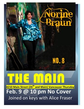 Norine Braun @ The Main Feb 9 2012 - Dec 7th @ The Main