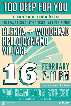 Hello Dynamo, Village, Blenda + Woodhead @ CBC - 700 Hamilton St Feb 16 2012 - Jul 10th @ CBC - 700 Hamilton St