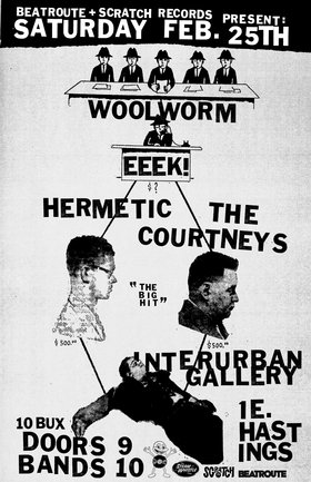 EEEK!, Hermetic, Woolworm, The Courtneys @ Interurban Gallery Feb 25 2012 - Apr 2nd @ Interurban Gallery