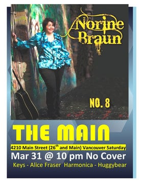 Norine Braun @ The Main Mar 31 2012 - Dec 7th @ The Main