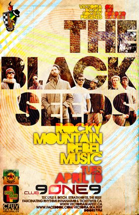 THE BLACK SEEDS RETURN TO CANADA! (VICTORIA SHOW) - ON THE ROAD TO SKA FEST 2012!: The Black Seeds, Rocky Mountain Rebel Music @ Distrikt Apr 10 2012 - Sep 26th @ Distrikt