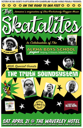 THE SKATALITES IN CUMBERLAND! FINALE OF ALPHA BOYS SCHOOL PROJECT!: THE SKATALITES, The Truth Sound System @ The Waverley Hotel Apr 21 2012 - Sep 26th @ The Waverley Hotel