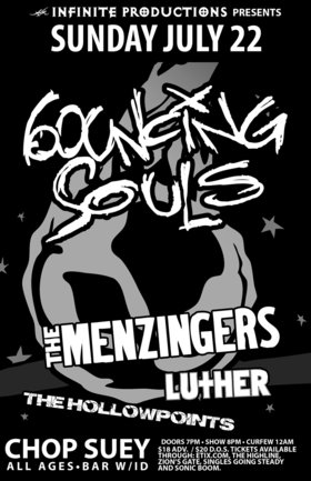 Bouncing Souls, The Menzingers, Luther, The Hollow Points @ Chop Suey Jul 22 2012 - Apr 23rd @ Chop Suey