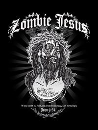 Zombie Jesus - Classic Tattoo Black Hoodie