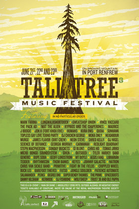 Tall Tree Music Festival III: Dj Mark Farina, Sweatshop Union, The Pack A.D., Vince Vaccaro, Kyprios and the Chaperones, Moka Only, Kuba Oms, AND MANY MORE... @ Browns Mountain Jun 22 2012 - Oct 16th @ Browns Mountain