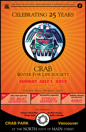 Crab Park's 25th Anniversary Festival: Shed , The Stingin' Hornets, Jimy Now @ Crab Park @ Portside Jul 1 2012 - Aug 11th @ Crab Park @ Portside