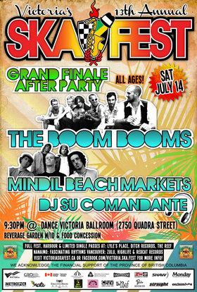 VICTORIA'S 13TH ANNUAL SKA FESTIVAL GRAND FINALE CONCERT #2 - THE FINAL ONE!: The Boom Booms, Mindil Beach, DJ Su Comandante @ Dance Victoria Studios Jul 14 2012 - Sep 26th @ Dance Victoria Studios