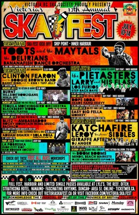 VICTORIA'S 13TH ANNUAL SKA FESTIVAL KICK OFF with TOOTS & THE MAYTALS: Toots And The Maytals, The Delirians, Bananafish Dance Orchestra @ Ship Point (Inner Harbour) Jul 10 2012 - Sep 26th @ Ship Point (Inner Harbour)