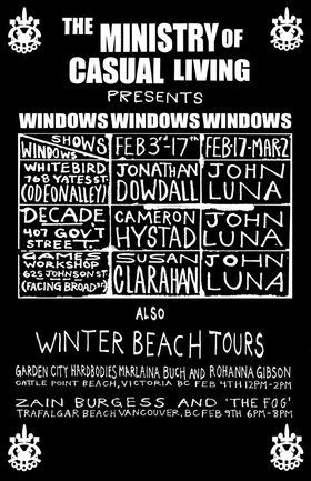 February DOWN TOWN window schedule - Oct 26th @