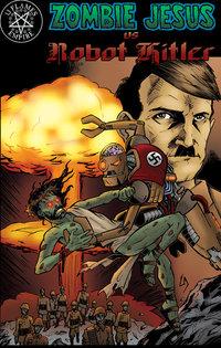 Zombie Jesus Vs. Robot Hitler - T-Shirt - Comic Cover