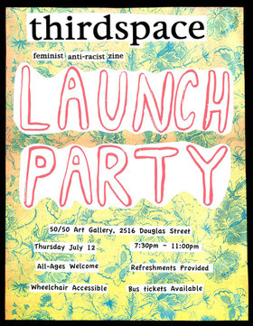 Thirdspace Launch & Party - Sep 25th @ the fifty fifty arts collective
